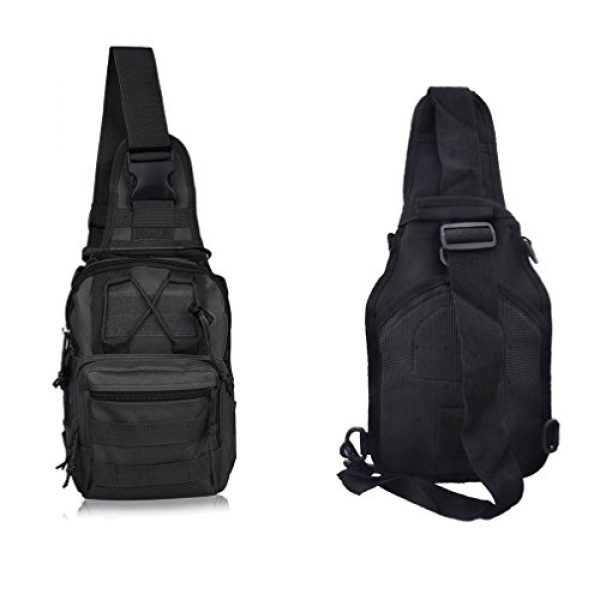 REDGO Tactical Backpack 2 REDGO Tactical Shoulder Chest Bag Military Crossbody Oxford Cloth Comfortable Crossed Backpack for Trekking Camping Hiking