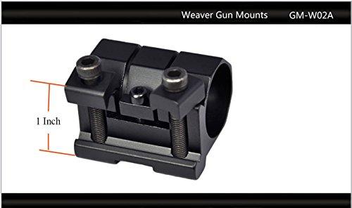 "Tactical Scorpion Gear Rifle Scope 3 Tactical Scorpion Gear TSG-GMW02A One Piece Weaver Scope Flashlight Mount 26mm 1"" - Black"