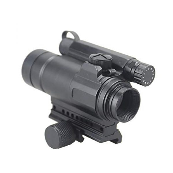 DJym Rifle Scope 1 DJym M4 Non-Magnification Red Film, Red Dot Sight, High Shockproof Waterproof Rifle Scope