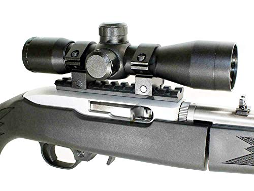 TRINITY Rifle Scope 2 Trinity Black 4x32 Hunter Scope for Ruger 10/22 Hunting Tactical Optics Picatinny Weaver Mount Adapter Aluminum Black Target Range Accessory Single Rail Mount.