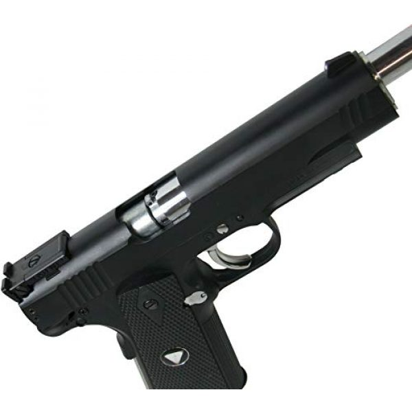 WinGun Airsoft Pistol 6 WinGun Special Combat Pistol 1911 CO2 Blowback Airsoft Gun Black with Black Grip