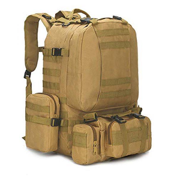 N/O Tactical Backpack 1 Camping Backpack for Men 55L Detachable Hiking Daypacks Travel Rucksack 3 day Pack