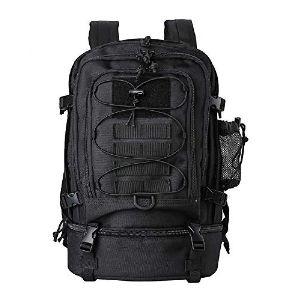 ProCase Tactical Backpack 1 Procase Military Tactical Backpacks 30 Liter, Large Capacity Hiking Daypacks Molle Bag for Camping, Hunting, Trekking, Military Traveling -Black