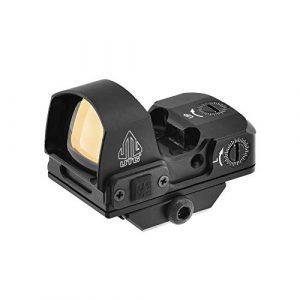 UTG Rifle Scope 1 UTG Reflex Micro Dot, Red 4 MOA Single Dot, Adaptive Base, Black