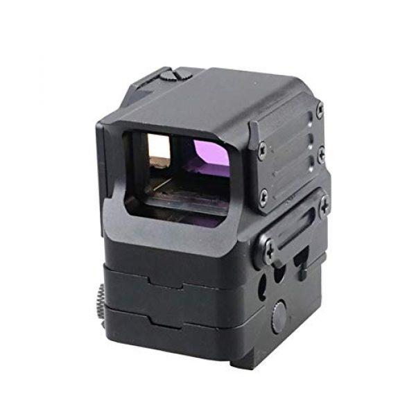DJym Rifle Scope 1 DJym Square Red Dot Sight, Universal Scope 7 File Lighting Adjustment