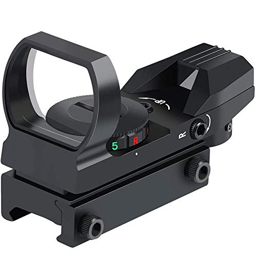 SUIYEU Rifle Scope 1 Reflex Sight - Adjustable Reticle Both Red and Green in one Sight - 4 Styles