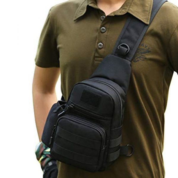 Hebetag Tactical Backpack 4 Hebetag Outdoor Sling Bag Hiking Backpack for Men Women Crossbody Shoulder Chest Day Pack for School Outdoor Travel Business Casual Work Office