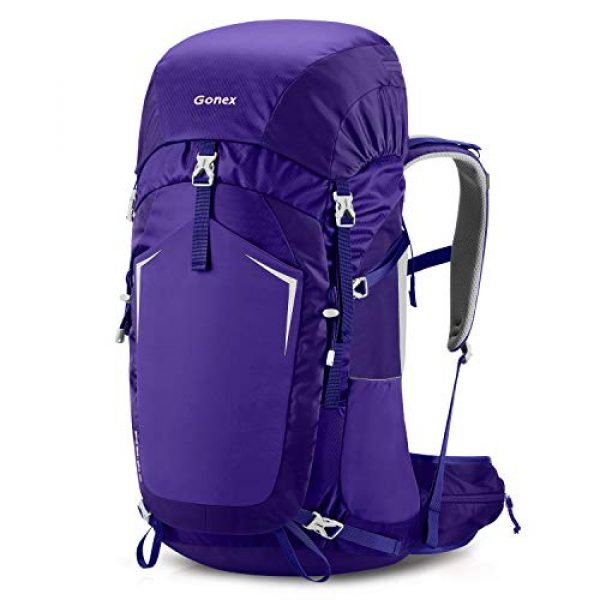Gonex Tactical Backpack 2 Gonex 55L Hiking Internal Frame Backpack Outdoor Backpacking Camping Trekking Climbing Backpack with Rain Cover for Men Women