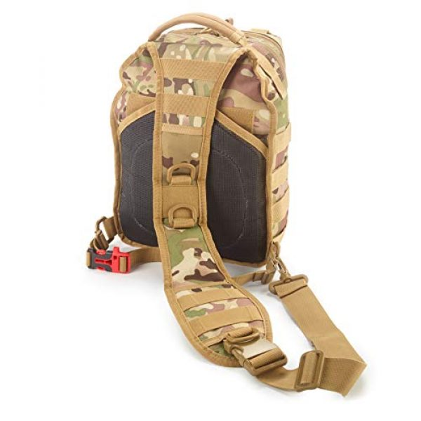 EverTac Tactical Backpack 2 Small Tactical Shoulder Sling Pack w/Molle EDC (CP MultiCam)