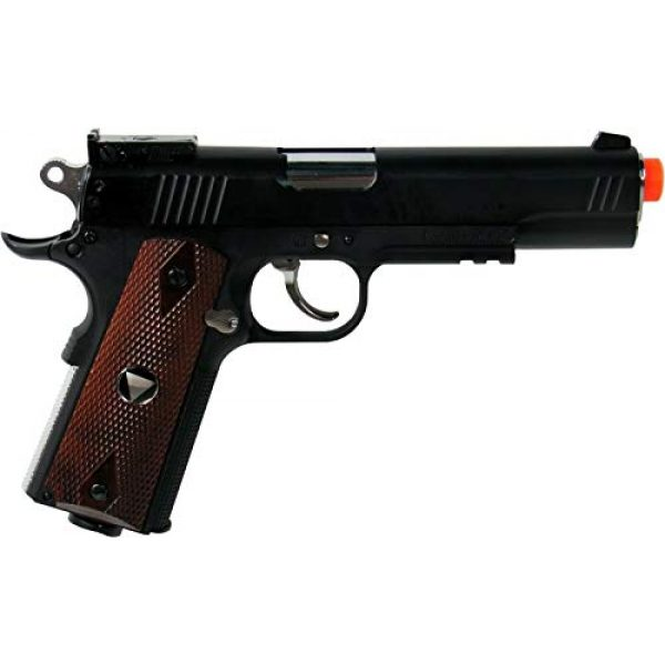 WinGun Airsoft Pistol 2 WG Special Combat Pistol 1911 CO2 Blowback Airsoft Pistol Black with Brown Grip