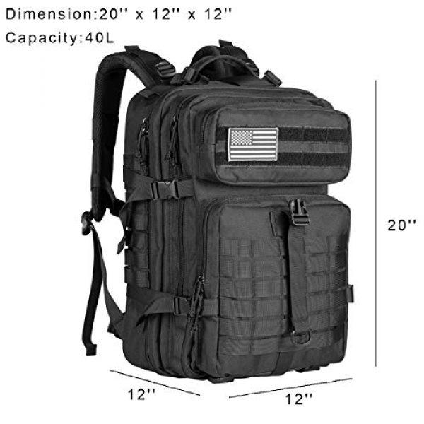 Himal Tactical Backpack 2 Himal Military Tactical Backpack - Large Army 3 Day Assault Pack Molle Bag Rucksack,40L,Black