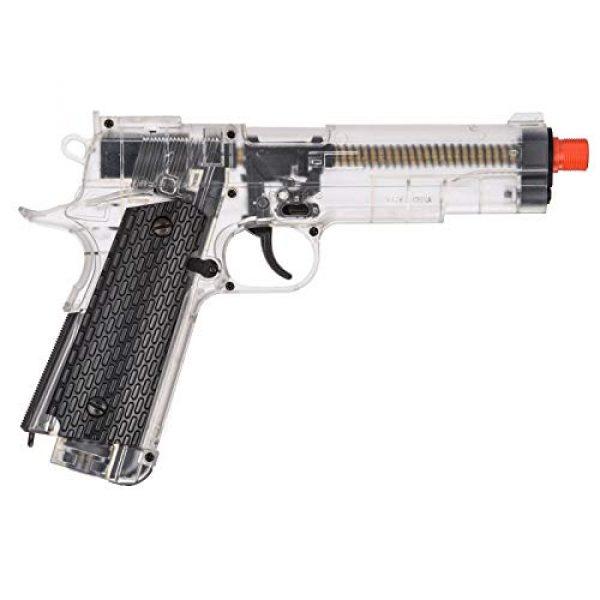 WellFire Airsoft Pistol 2 WellFire G292B-CR M1911 CO2 Airsoft Non-Blowback Pistol Clear