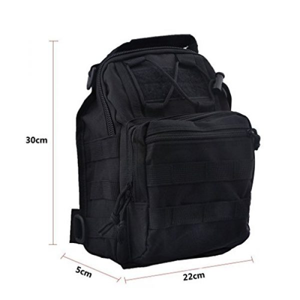 REDGO Tactical Backpack 3 REDGO Tactical Shoulder Chest Bag Military Crossbody Oxford Cloth Comfortable Crossed Backpack for Trekking Camping Hiking