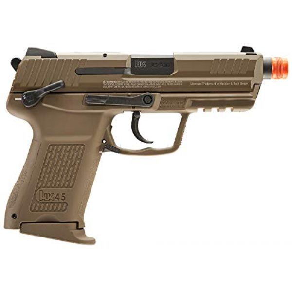 Elite Force Airsoft Pistol 3 Elite Force HK Heckler & Koch HK45 GBB Blowback 6mm BB Pistol Airsoft Gun, FDE