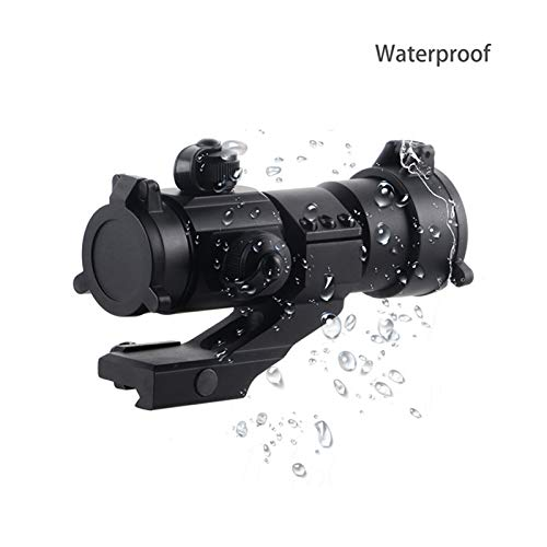 UELEGANS Rifle Scope 3 UELEGANS Hunting Scope Sights 4MOA 1x32 Red Green Dot Reflex Sight Scope with Picatinny Cantilever Mount