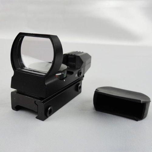 TACBRO Rifle Scope 3 Maxsports Tactical Rifle Shotgun Pistol Red&Green Illuminated 4 Reticles Red Dot Sight