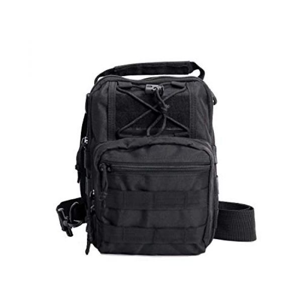 FengJu Tactical Backpack 4 Tactical Molle Military Shoulder Bag, Sling Shoulder Messenger Chest Pack for iPad or Gear Transport While Cycling, Hiking or Daily Use