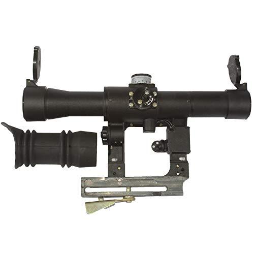 BelOMO Rifle Scope 4 BelOMO POSP 4x24 V (B). Optical Rifle Scope. Russian Side Mount. 400m Rangefinder. 1 MOA. Combloc