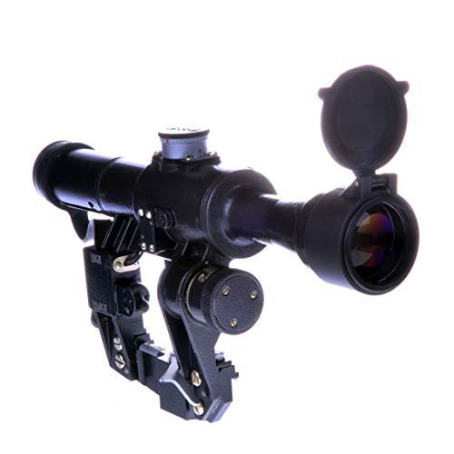BelOMO Rifle Scope 4 BelOMO POSP 4x24 M. Optical Rifle Scope. Russian Side Mount. 1000m Rangefinder. 1 MOA. Combloc