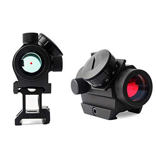 """QILU Rifle Scope 5 QILU 1x25mm 3-4MOARed Dot Sight Optics Scope, with 1 Inch High Mount Compact Red Dot Scope 1"""" Riser Mount for Cowitness with Iron Sights Waterproof and Shockproof"""