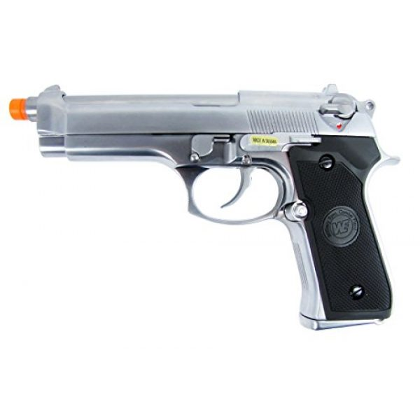 WE Airsoft Pistol 2 WE m92 gas/co2 blowback full metal - silver by we(Airsoft Gun)