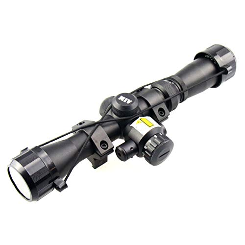 TACFUN Rifle Scope 3 TACFUN AIM Sports 2-7X32MM Long Eye Relief Scout Scope with RED Laser & Duplex Reticle