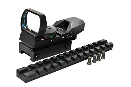 TRINITY Rifle Scope 4 Trinity red Green dot Sight Aluminum Black with Base Mount for mossberg 500 12 Gauge Hunting Optics Tactical Home Defense Accessory Picatinny Weaver Base Mount Adapter Aluminum Black.