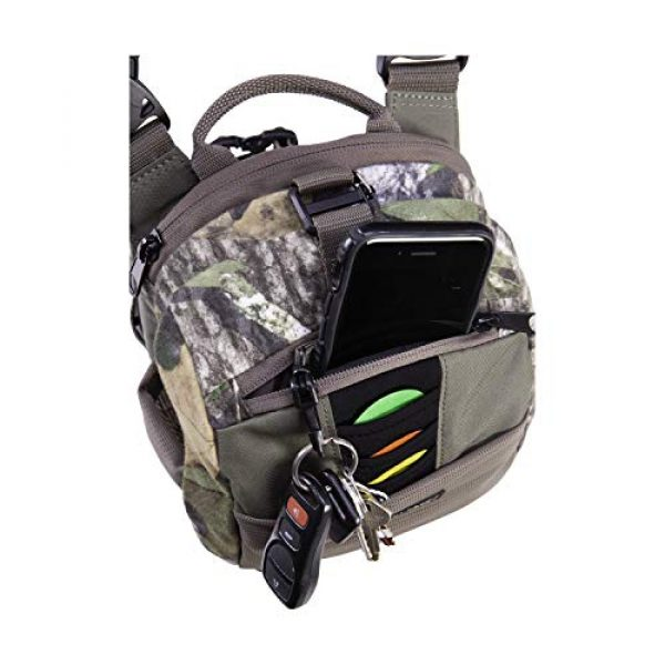 Allen Company Tactical Backpack 3 Allen Company Shocker Cut-N-Run Turkey Hunting Pack - 3in1 Functionality: Thigh Pack, Sling Pack, Chest Pack - Multi Functional -9 Features, Camo 19170 One Size