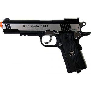 WinGun Airsoft Pistol 1 WinGun WG Special Combat Pistol 1911 CO2 Blowback Airsoft Gun Silver and Black