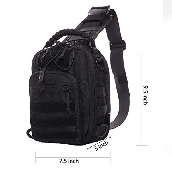 ANTARCTICA Tactical Backpack 3 ANTARCTICA Tactical Sling Bag Pack Military Rover Shoulder Bag Molle Assault Range Bag Backpack 1050D