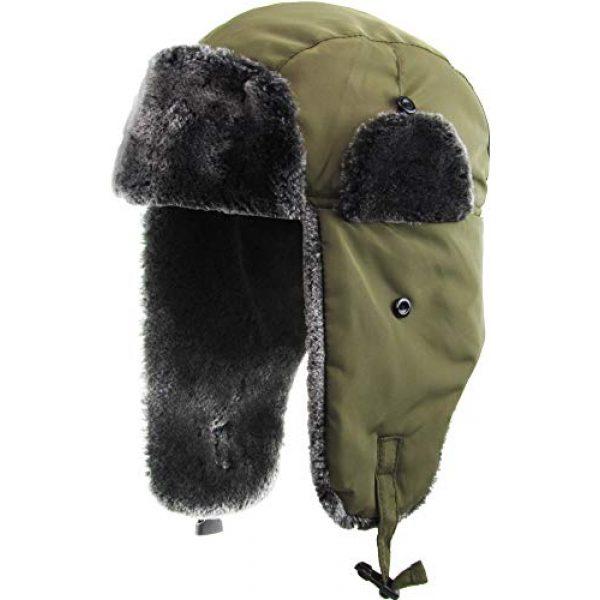 KBETHOS Tactical Hat 1 Basic Solid Blank Aviator Trapper hat Trooper Ear Flaps Ushanka Eskimo Bomber Russian Warm Winter Cold