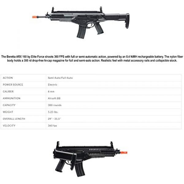 Wearable4U Airsoft Rifle 6 Wearable4U Umarex EF Beretta Arx 160 AEG Competition Electric Air Soft BB Rifle with Included Battery and Charger Pack of 1000ct BBS Bundle (Black)