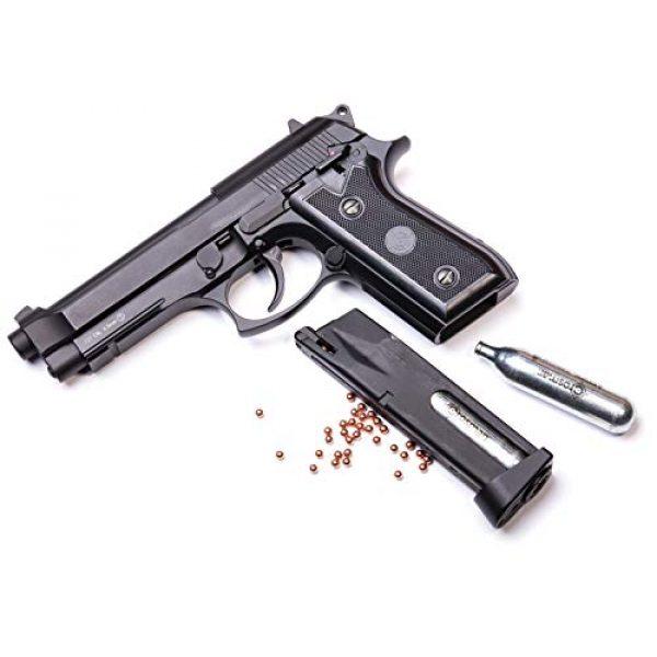 Crosman Air Pistol 4 Crosman PFAM9B CO2-Powered Full Auto Blowback BB Air Pistol,Black