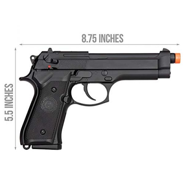 Lancer Tactical Airsoft Pistol 2 Lancer Tactical Double Bell M92 U.S. Army Gas Blowback Airsoft Pistol Black 300 FPS
