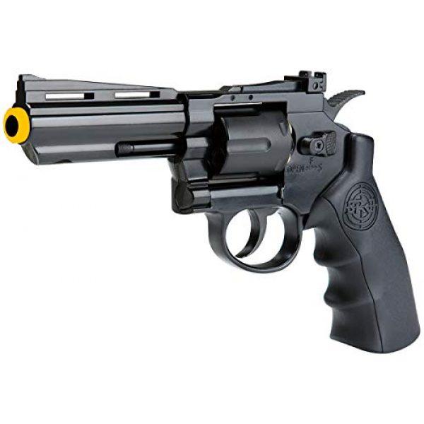 SRC Airsoft Pistol 1 SRC 4 INCH Barrel Titan CO2 Gas Airsoft GBB Revolver Black
