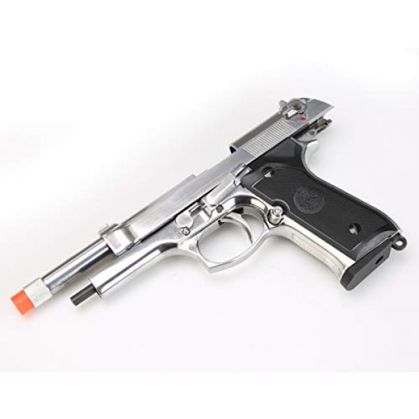 BULLDOG AIRSOFT Airsoft Pistol 6 SR92 Co2 Blowback Silver Airsoft Pistol [Airsoft Blowback]