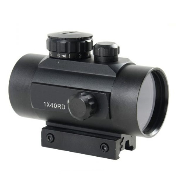 NoGa Rifle Scope 1 Noga Tactical 1x40 Red and Green Dot Sight Scope W/10mm-20mm Weaver Mount