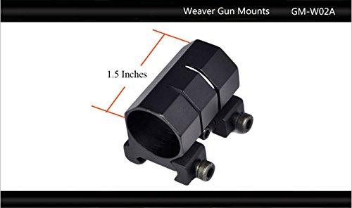 "Tactical Scorpion Gear Rifle Scope 2 Tactical Scorpion Gear TSG-GMW02A One Piece Weaver Scope Flashlight Mount 26mm 1"" - Black"