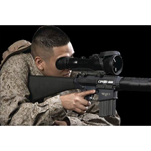 """PRG Defense Rifle Scope 5 PRG Defense 15WOP623353011 Model Wolverine Pro 6 3NL1 Gen 3+""""Level 1"""" Night Vision Rifle Scope, 6X Magnification, 178mm Objective Lens, 5.7° FOV, 50m to Infinity Focus Range, 30mm Eye Relief"""