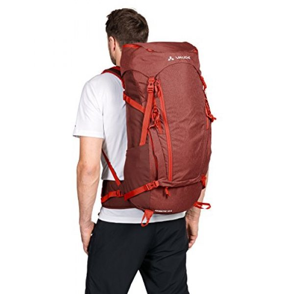VAUDE Tactical Backpack 3 VAUDE Asymmetric 42+8 Backpack - Lightweight Touring Backpack for Multi-Day Hikes, Trekking and Backpacking - Adjustable Suspension System - 50 Litre Volume