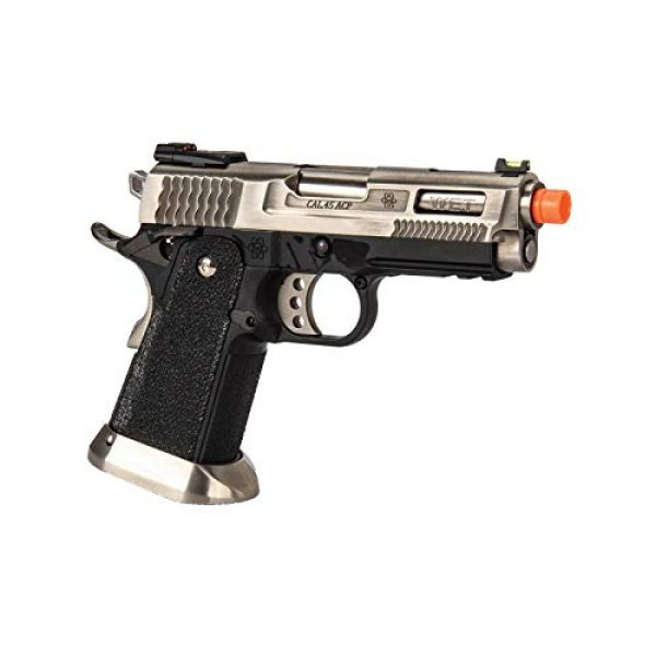 Lancer Tactical Airsoft Pistol 4 Lancer Tactical WE-Tech Hi-Capa 3.8 Brontosaurus Full Auto Gas Blowback Airsoft Pistol Silver