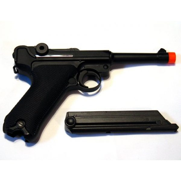 WE Airsoft Pistol 3 WE Luger 908SB Gas Blow Back Airsoft Pistol 4 inch Barrel WE-037