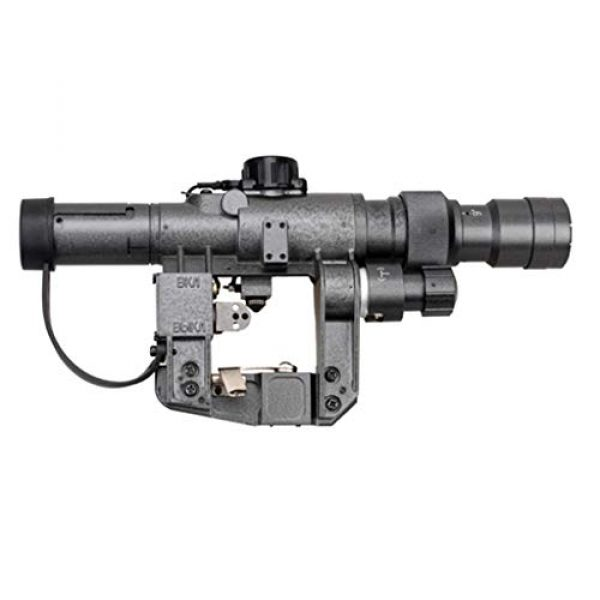 Vector Optics Rifle Scope 7 Vector Optics SVD Dragunov 3-9x24mm First Focal Plane (FFP) Tactical Riflescope with Red Illuminated Rangefinding Reticle