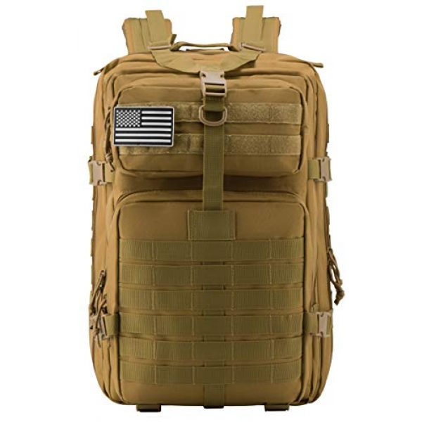 Luckin Packin Tactical Backpack 2 Luckin Packin Military Tactical Backpack, Molle Bag, Rucksack Pack, 45 Liter Large