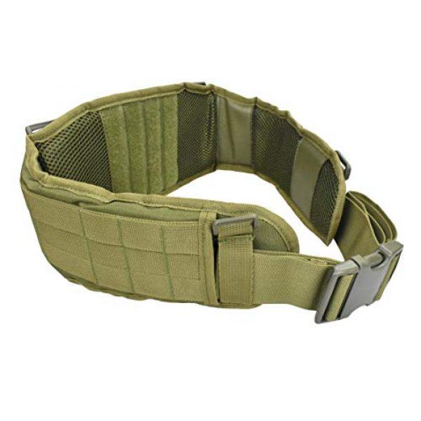 JFFCE Tactical Belt 3 JFFCE Tactical MOLLE Battle Belt Waist Belt with X-Shaped Suspenders Adjustable Combat Duty Belt Removable Harness
