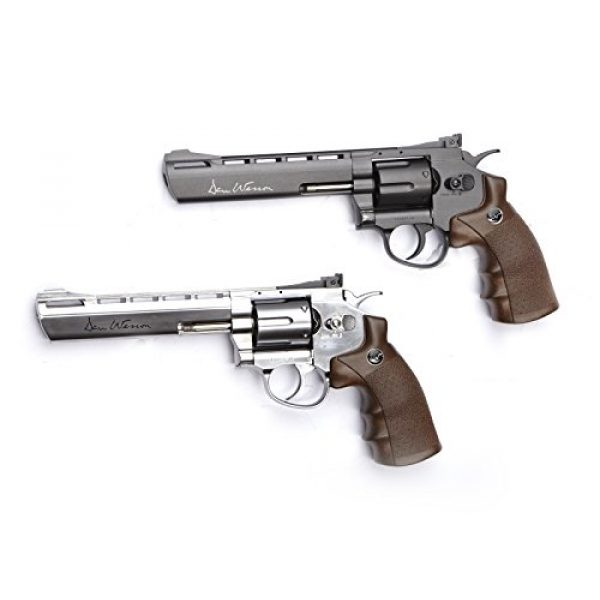 Dan Wesson Airsoft ASG Wood Revolver Grip 2 Dan Wesson ASG Licensed Wood Style Revolver Grip for 4.5mm Airgun Pistols and 6mm Airsoft Guns - Wood Color (17455)