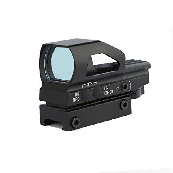 DJym Rifle Scope 2 DJym Red Dot Scope Internal Red Green Adjustable HD Non-Magnification Sight 22mm Rail (2 Packs)