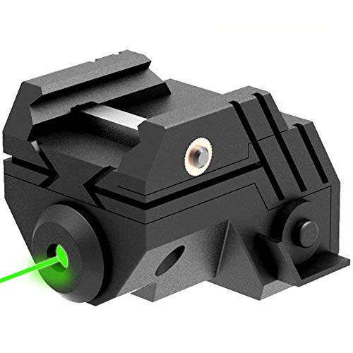 Laspur Rifle Laser Sight 1 Laspur USA Mini Sub Compact Tactical Rail Mount Low Profile Laser Sight with Build-in Rechargeable Battery for Pistol Rifle Handgun Gun