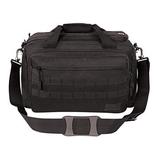 SOG Specialty Knives Tactical Backpack 4 SOG Specialty Knives & Tools Tactical Echo Shooting Range Bag W/Pistol Sleeve & Shell Bag Included, Black