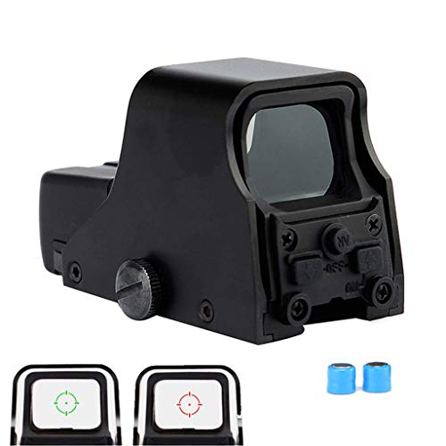 AJDGL Rifle Scope 1 AJDGL 1x22mm Tactical Reflex Mini Red Dot Sight- Optical Holographic Scope Adjustable Brightness for Shooting Hunting